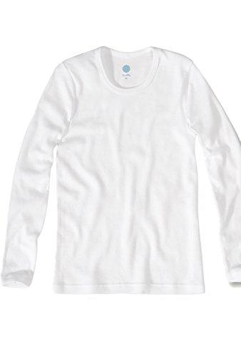 Sanetta Jungen Unterhemd Langarm weiß Unterwäsche, 92