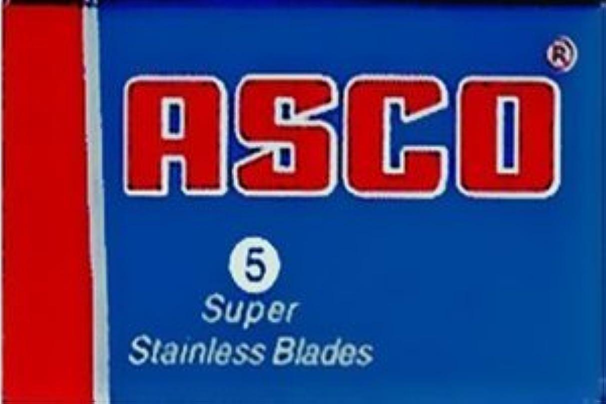 推測する農学ドナーASCO Super Stainless 両刃替刃 5枚入り(5枚入り1 個セット)【並行輸入品】