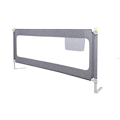 Barrières de lit LHA Lit entourant la cloison Anti-Chute pour bébé 150cm, 180cm, 200cm (Couleur : Gray, Taille : L-180cm)
