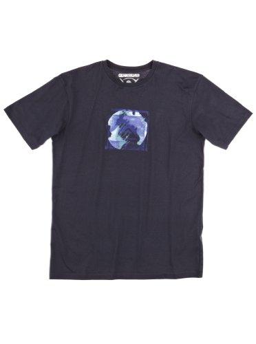 Quiksilver Baseline SS Tee-KPMJE81115 T-Shirt imprimé Homme S Bleu Marine
