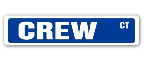 "CREW Street Sign race racer competition sculling rowing | Indoor/Outdoor | 18"" Wide Plastic Sign"