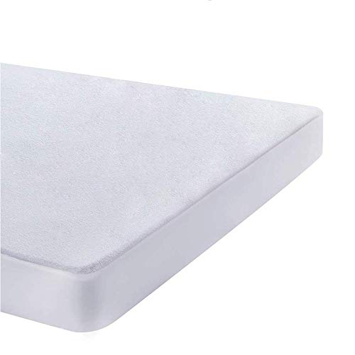 UMI. Essentials Waterproof Mattress Protector Terry Cotton Cover - Fitted, King (150x190/200cm)