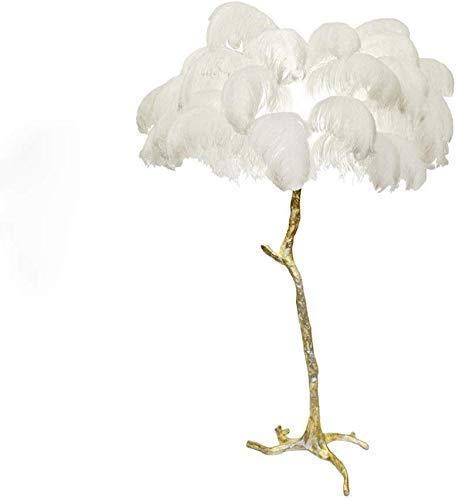 Tafellamp Jue Europen stijl tafellamp met veren verlicht een moderne verlichting van koper AC110 V 220 V goud voor de woonkamer (kleur: warm wit, lampenkap kleur: zwart), maat: warm wit, kleur: wit