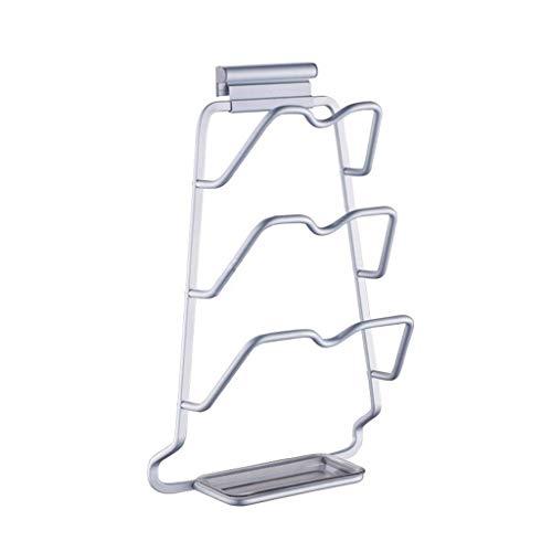 Tokyia Estante de la cocina Lixin aluminio del espacio estante del pote (Color: Plata, Tamaño: 39,5 * 24,5 cm) (Color: Plata, Tamaño: 39,5 * 24,5 cm) Utilizado en sala de estar, oficina, dormitorio, c