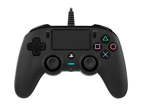 Nacon Manette Filaire compacte pour Playstation 4 - Accessoires de Jeux vidéo (Manette de Jeu, Playstation 4, Analogique/Numérique, Share, avec Fil, Noir)