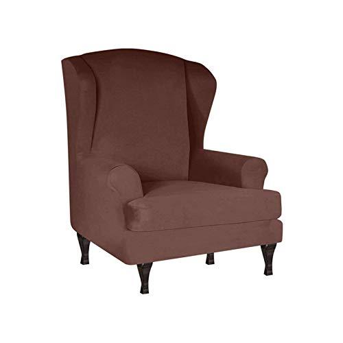 Sesselbezug Elastische Sesselhusse, Relaxsessel Bezüge Relax Sesselbezug Weich Sofabezug Ohrensessel Schonbezug Für Flügelstuhl Sessel-braun