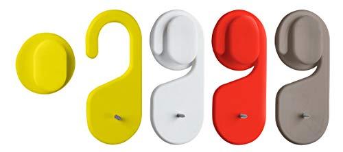 WENKO Shampoo-Fix sortiert - Shampoo-Flaschen-Halter, Polypropylen, 3.5 x 8 x 1.4 cm, Sortiert