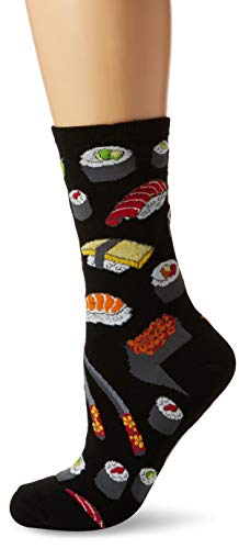 Socksmith Ladies Sushi Novelty Sock, Shushi Black, (Sock size 9-11 fits Shoe size 5-10-5)