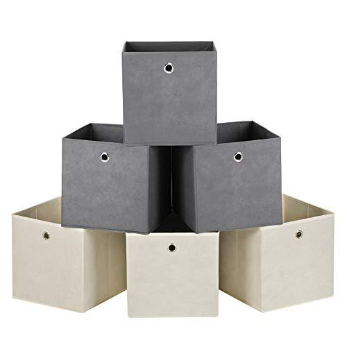 6 cajas de almacenamiento de diferentes colores