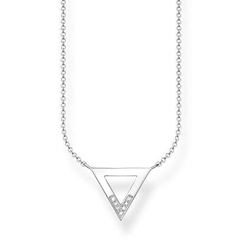 Thomas Sabo Damen-Collier Glam & Soul 925 Sterling Silber Diamant weiß Länge von 40 bis 45 cm D_KE0007-725-14-L45v