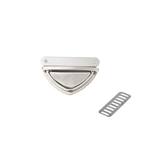 ZZALLL Triangle Shape Clasp Drehverschluss Twist Locks für Handtasche Umhängetasche Geldbörse - Silber