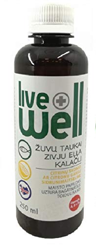 Fish Oil High in Omega 3, Vitamins, Lemon Flavour 250 Ml Liquid Supplement Made in Iceland