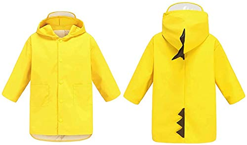 Xrten Kids Raincoat,Dinosaur Raincoat Bambini Impermeabile Pioggia Poncho Cute Unisex(Medium)
