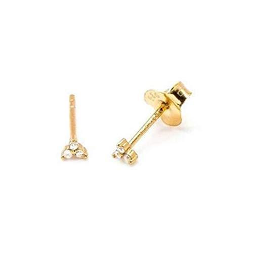 MURUI EH 2 pendientes minimalistas con forma de corazón pequeño, de plata de ley 925, para mujer, compromiso, fiesta, joyería de moda yc613 (color de la gema: 2)