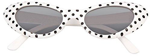 Cat Eye Brille Sandy mit Punkten - Weiß Schwarz