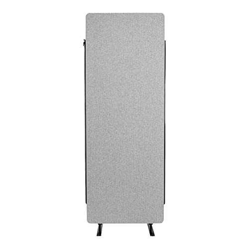 """Stand Up Desk Store ReFocus Freestanding Noise Reducing Acoustic Room Wall Divider Office Partition (Steel Blue, 24"""" W x 66"""" H, Zippered Extension Panel)"""