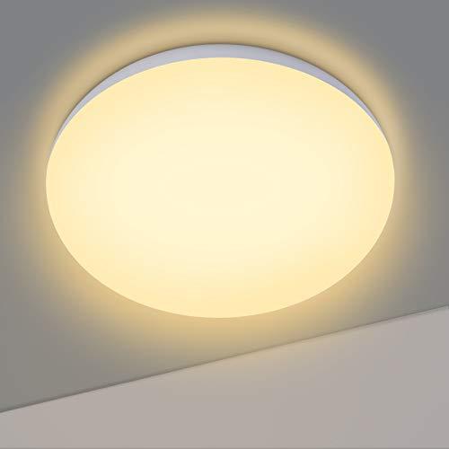 Plafoniera LED Soffitto Bianca Calda, OPPEARL Lampada da Soffitto, 12W 1200lm, 3000K Plafoniera da Cucina per Ufficio, Balcone, Corridoio, Armadio, Cantina Ø14.5CM