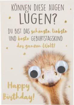 Depesche grappige vouwkaarten met spreuk - Gelieve lachen - Kunnen deze ogen vliegen? Jij bent het.