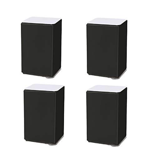 Möbelerhöher Betterhöhung Möbelerhöhung Tischerhöher aus Karbonstahl,4St Füße zur Erhöhung von Schränken,Selbstklebende Möbelfuss Sofafuss Sockelfuss Möbelgleiter,Durchmesser 60mm(black6x6x10.2cm)