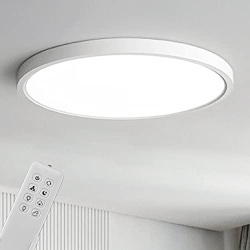 Anten Deckenleuchte Dimmbar | Deckenlampe TARA 24W | Ultra dünn Rund Ø30x2.4cm Deckenleuchte mit Fernbedienung | 4 Farbtemperatur | Memory Funktion | Lampe für Wohnzimmer, Küche, Büro, Schlafzimmer