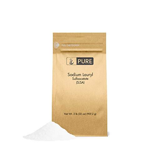 Pure Sodium Lauryl Sulfoacetate (SLSA) (2 lb.), Eco-Friendly Packaging, Ideal Bath Bomb Additive, Gentle on Skin, Surfactant & Latherer