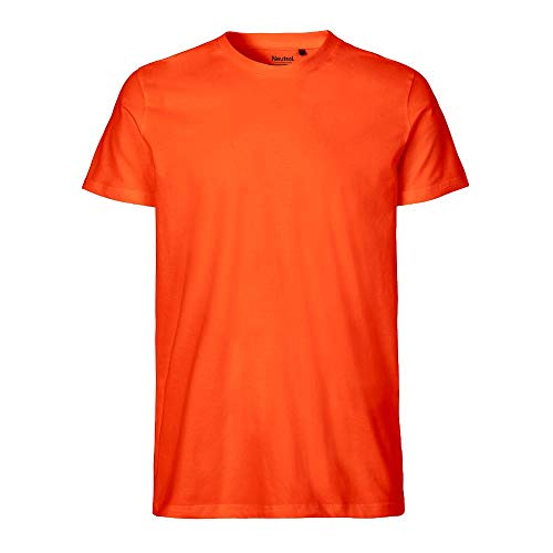 Neutral - Herren T-Shirt 'Fitted' / Orange, 3XL