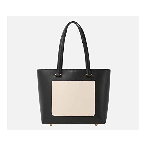 EEKUY mode lederen handtas, vrouwen hit kleur aktetas grote capaciteit schouder tas voorkant telefoon zak 11,8 x 5,5 x 10,2 inch