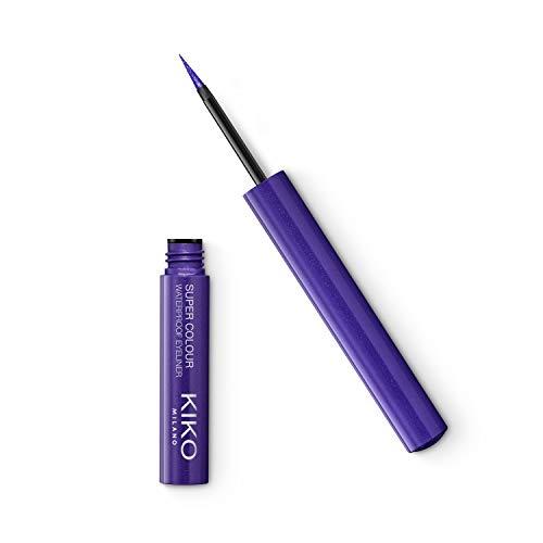 KIKO Milano SUPER COLOUR WATERPROOF EYELINER 05, Wasserfester, besonders deckender, farbiger Flüssig-Eyeliner, 05 violet