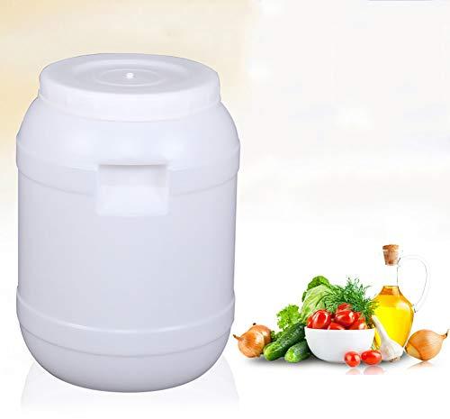 ZSYGFS Bidón de Agua Almacenamiento de Calidad alimentaria Tanque bañera de Agua Tapa de Cierre de tapón Grande Engrosada Cubo de plástico hogar (10L, 25L, 50L, 85L) (Size : 10L)