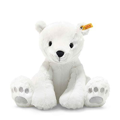 """Steiff 62643 Original Plüschtier Eisbär Soft Cuddly Friends Lasse, Kuscheltier ca. 35 cm, Markenplüsch Knopf im Ohr"""", Schmusefreund für Babys von Geburt an, weiß"""