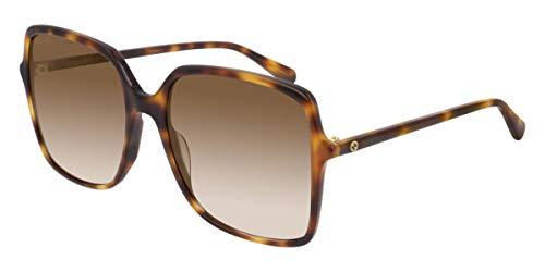 Gucci GG0544S-002-57 Occhiali, Havana/Brown Shaded, 57.0 Unisex-Adulto