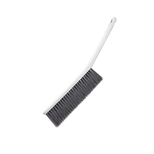Dusting Brush Multifunctional Handheld Duster Soft Bristle Brush with with Handle for Bedsheets, Sofa, Table, Bookshelf, Car Cleaning (White)