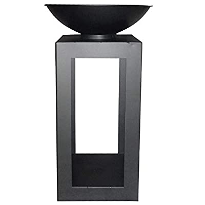 Gr8 Home Metal Black fire Pit Bowl Outdoor Patio Heater Garden Round BBQ Barbecue Wood Log Charcoal Burner Table Stand from Dreamland Products HK Ltd