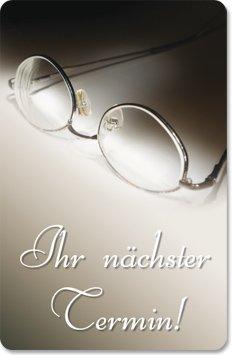 Terminkarten (100 Stück) für Augenarzt, Optiker, Brillen