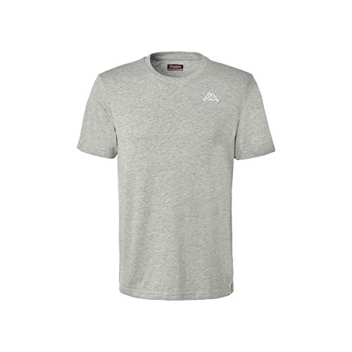 Kappa Logo CAFERS Slim, T-Shirt Uomo, Grigio, S