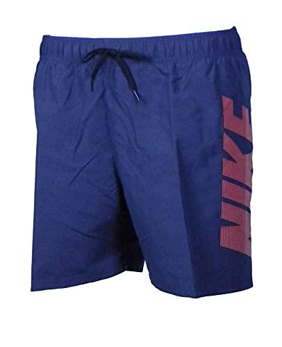 Nike Volley - Costume da Bagno da Uomo, Uomo, Costume da Bagno, NESSA571-422, Blu (Thunder Blue), S