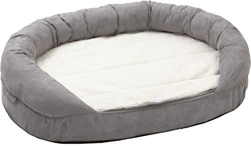 Karlie 68416 Liegebett Ortho Bed, oval, grau L: 120 cm B: 72 cm H: 24 cm grau