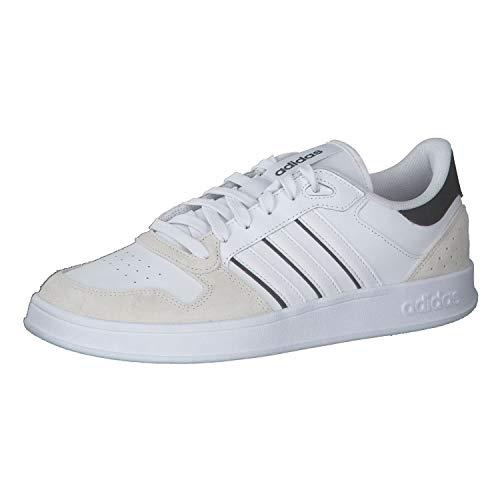 adidas BREAKNET Plus, Zapatillas de Tenis Hombre, FTWBLA/FTWBLA/NEGBÁS, 44 2/3 EU