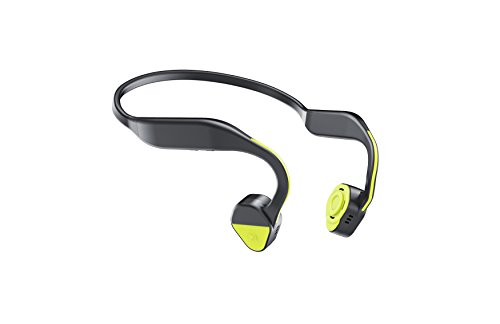 Bone Conduction Headphones Sports Headphones Waterproof Bluetooth 4.1 Wireless Earbuds Open Ear Neck Headset Earphones with Mic for iPhone, Android Smartphone Tablet (Yellowgreen)