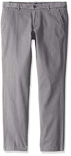 IZOD Men's Saltwater Stretch Flat Front Slim Fit Chino Pant, Cinder Block, 34L X 36W