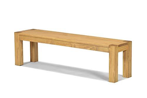 Naturholzmöbel Seidel Sitzbank 160x38cm Rio Bonito Farbton Honig hell Bank Massivholz Pinie geölt und gewachst, Optional: passende Bankauflagen und Tische
