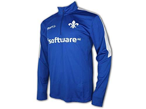 Craft SV Darmstadt 98 LS Training 1/4 Zip Top blau Sweatshirt Lilien Fan Shirt, Größe:XXL