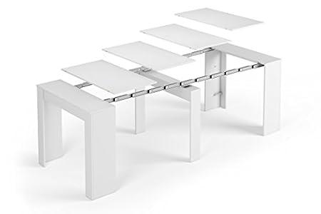 SERMAHOME- Mesa Consola Extensible para Comedor Modelo Function. Color Blanco Brillo. Medidas: 90 x 78 x 50 cm (Cerrada)
