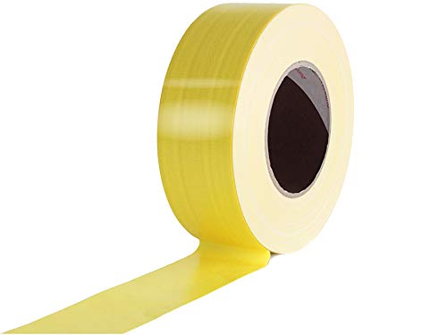 Profi Klebeband für Bühnenbau Tape Gewebeband Gewebeklebeband Verlegerklebeband - Gelb Matt, 5cm x 50m, Wasserfest, Beschriftbar, Rückstandsfrei Abziehbar