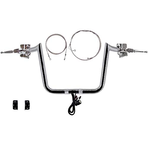 """Hill Country Customs 1 1/4"""" Chrome 13"""" Hefty Prime Apes Complete Handlebar kit for 2015 and newer Harley Road Glide Ultra models - CMPT-0601-4552-RG15CCBA"""
