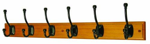 Headbourne Azhr0302 - Perchero (6 ganchos, remate de bola,...