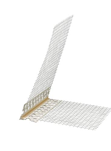Eckwinkel 100 x 150 mm mit Abzugskante spitz 3 mm Gewebewinkel 10x15 cm 250 cm Winkel Fassade Kantenprofil