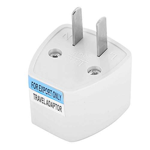 Enchufe de alimentación universal, Adaptador convertidor de viaje Conversión de UE/Reino Unido/AU a EE. UU, Convertidor de cargador de corriente de tomacorriente de pared portátil Adecuado para l