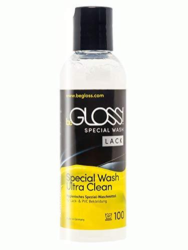 beGLOSS Special Wash Lack & PVC 100 ML Waschmittel für Lackbekleidung Pflege Reiniger für Lack Kleidung