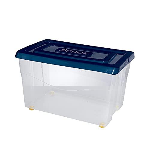 Denox Mundibox Caja con Ruedas y Tapa 60 L, Azul